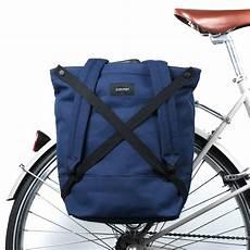 fahrradtasche rucksack kombi winnipeg in marine blau zimmer