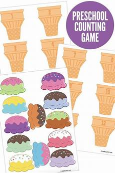 free printable preschool counting game summer activities for kids numbers preschool