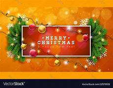 merry on orange background royalty free vector