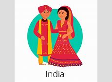 Indian Wedding Couple stock vector. Illustration of
