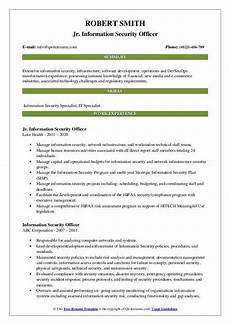 information security officer resume sles qwikresume