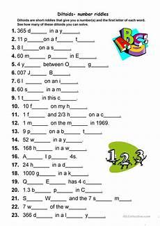 esl riddles worksheets 10892 diltoids number letter puzzles worksheet free esl printable worksheets made by teachers