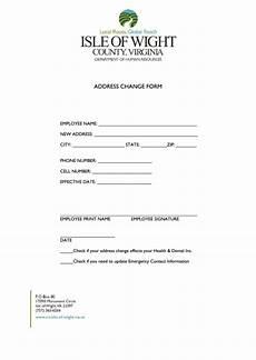 employee change of address form printable pdf download