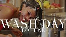 relaxed hair wash day routine youtube