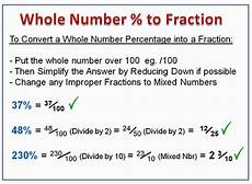 converting percentages to fractions passy s world of