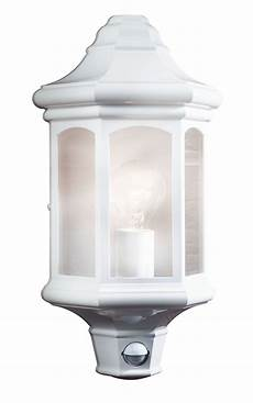 blooma carya white mains powered external pir wall light departments tradepoint