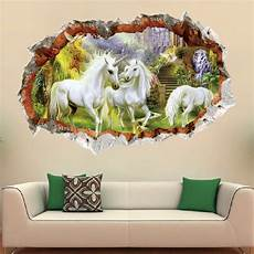 3d sticker removable 3d horse breakthrough wall sticker decal kids