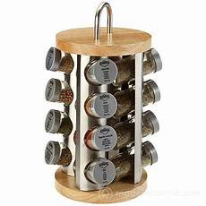 portaspezie acciaio portaspezie inox legno con 16 spezie kuchenprofi