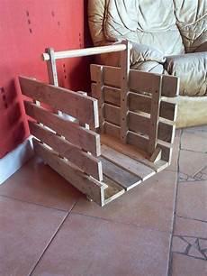 caisse pour bois de chauffage panier a buches en bois de palette recycl 233 meubles et