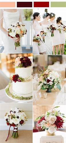 Burgundy White Wedding Theme