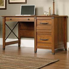 sauder home office furniture sauder carson forge 412920 single pedestal desk with