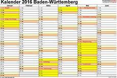 Faschingsferien Baden Württemberg 2017 - kalender 2016 baden wurttemberg ferien feiertage excel
