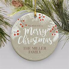 customized we wish you a merry christmas holiday ornament giftsforyounow