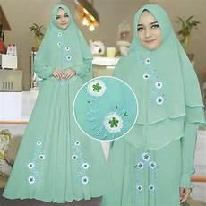 Model Baju Gamis Syari Bordir Setelan Jilbab Khimar Ryn