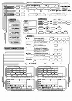 star wars character sheet saga edition printable pdf download