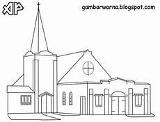 Mewarnai Gambar Gereja Belajar Mewarnai Gambar