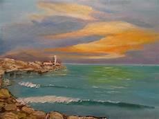 tableau figuratif phare sur mer