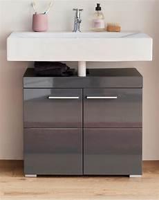 waschbeckenunterschrank grau badm 246 bel waschbeckenunterschrank amanda hochglanz grau