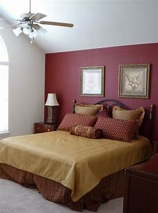 Warm Master Bedroom Paint Ideas by Maroon Accent Wall Bedroom Burgundy Accent Wall Pretty