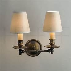 classic twin straight arm wall light