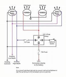 spot lights wiring diagram
