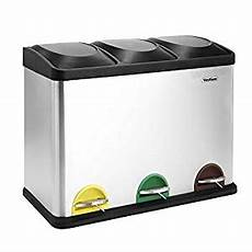 Recycle Kitchen Electronics by Vonhaus 45l Litre Stainless Steel 3 In 1 Compartment