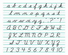learning cursive handwriting writing
