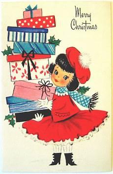 hallmark vintage card merry christmas