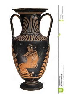 foto vasi vaso greco antico isolato su bianco fotografia stock