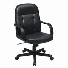home depot office furniture work smart black eco leather executive office chair ec3393