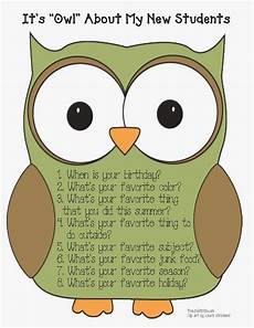 classroom freebies it s quot owl quot about me back to school