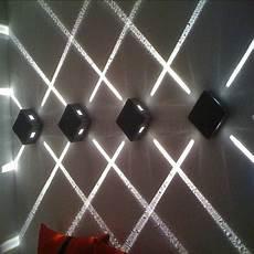 4pcs lot 3w ip65 led cross star light outdoor waterproof wall l decoration lighting