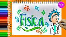 ideas marcar tus cuadernos regreso a clases c 243 mo dibujar portada de f 205 sica youtube