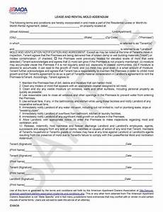 Apartment Owners Association Forms by Mold Addendum Aaoa