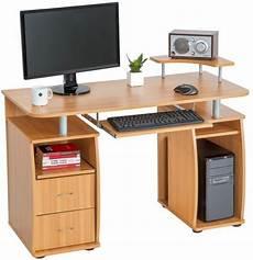 bol tectake computerbureau bureau buro mdf hout