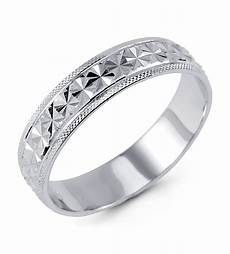 solid 925 sterling silver diamond cut wedding band ring