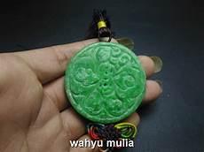 liontin batu giok hijau asli kode 621 wahyu mulia