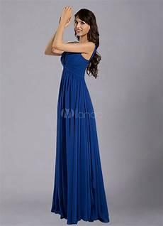 Bleu Royal Sangles Robe De Demoiselle D Honneur Mousseline