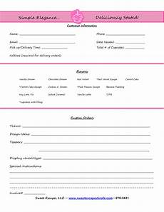 cake order receipt template cake order form templates free cupcakes cake order