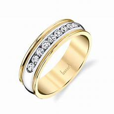 husar s house of fine diamonds 14kt white and yellow gold men s diamond wedding ring with