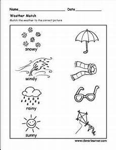 the seasons activity worksheet for preschools weather