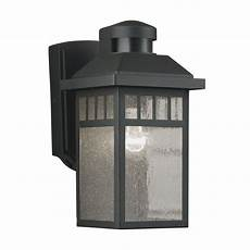 portfolio 11 5 in h black motion activated outdoor wall light at lowes com