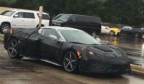 Mid Engine C8 Corvette Spied With Less Camo  GM Authority
