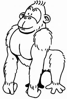 lustige ausmalbilder affen gorilla ausmalbilder ausmalen malvorlagen