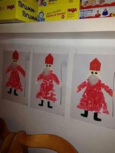 nikolaus malen ausschneiden aufkleben santa claus
