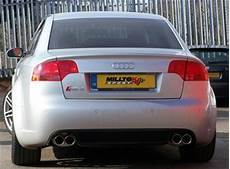 milltek non resonated louder cat back exhaust system w black tips for audi b6 s4 b6 a4 3 0l