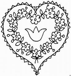 Ausmalbilder Sterne Und Herzen Herz Mit Blumen 2 Ausmalbild Malvorlage Gemischt