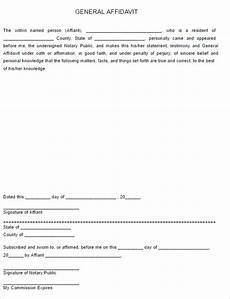 77 affidavit form templates free pdf word exles