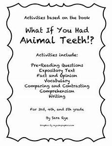 animal fact and opinion worksheets 13997 what if you had animal teeth packet teeth vocabulary words this or that questions