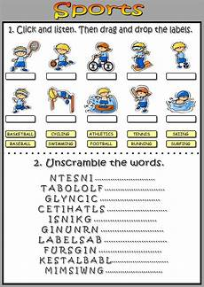 unscramble sports words worksheets 15892 sports interactive worksheet